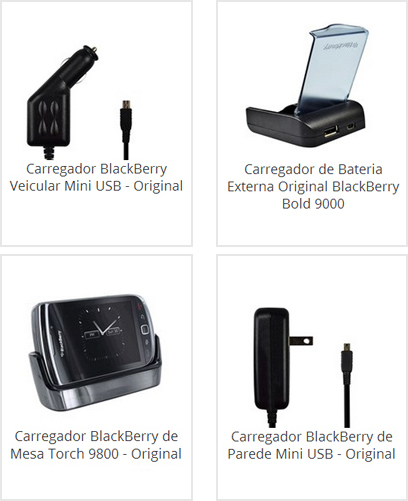 Carregador Veicular Blackberry
