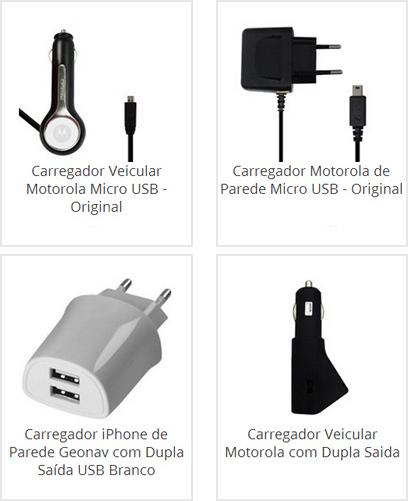 Carregador Motorola de Parede
