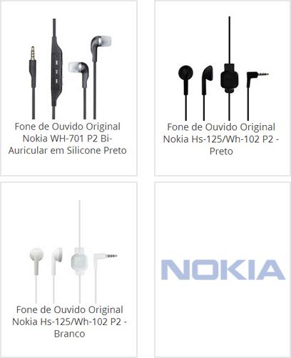 Fone de Ouvido Nokia
