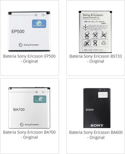Bateria Sony Ericsson