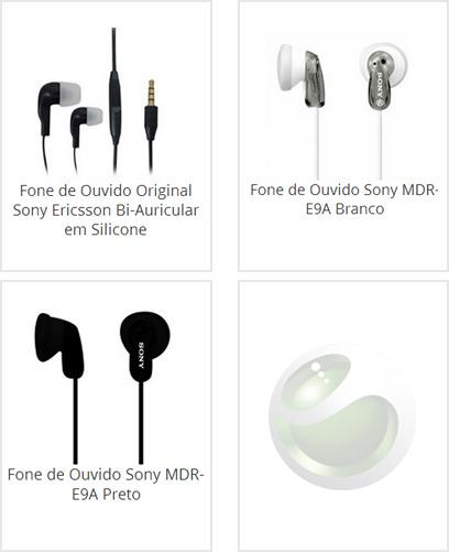 Fone de Ouvido Sony Ericsson